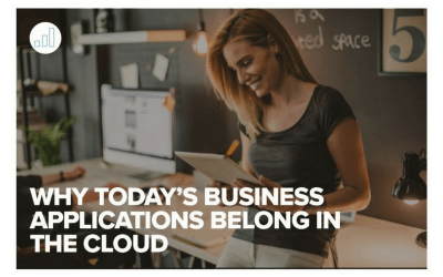 Why Today's Business Applications Belong In The Cloud