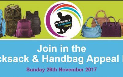 Rucksack and Handbag Appeal 2017
