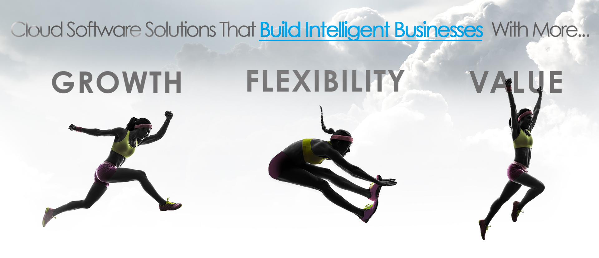 Sporting image illustrating that Intelligent businesses have Growth, Flexibility and Value