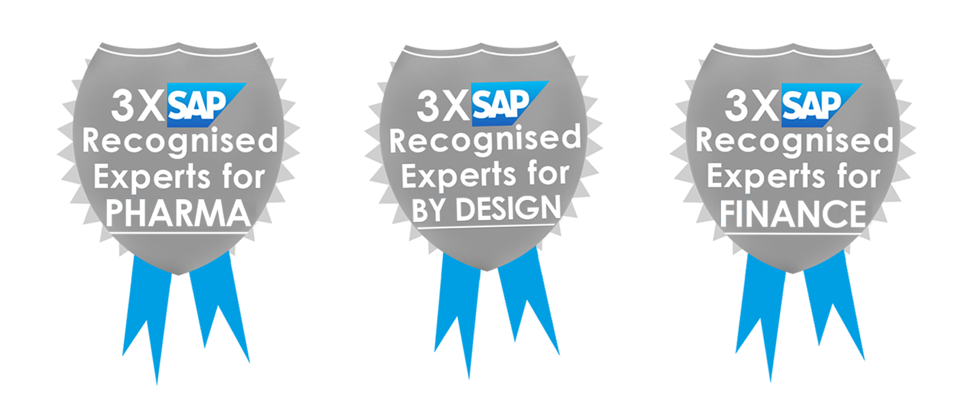 Proving our expertise Cofficient is 3 times recognised experts by SAP